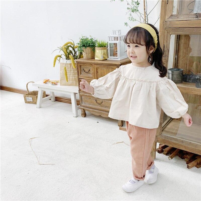 Bebê camisas meninas crianças primavera e outono