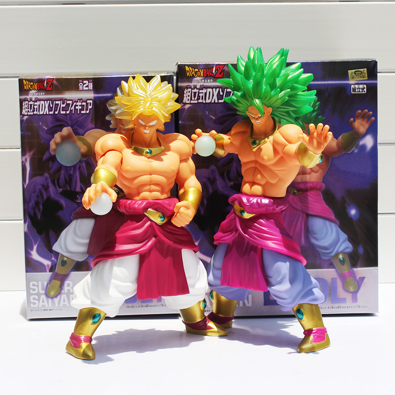 2Styles Dragon Ball Z Green Hair Super Saiyan Broly PVC Action Figure Model Toy Classic Toys Free Shipping 10 26cm