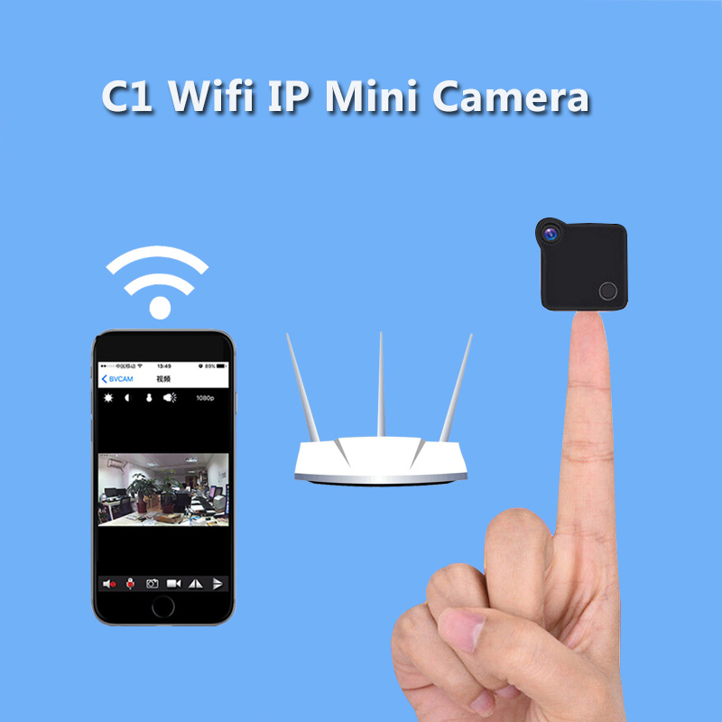 Volemer C1 Mini Wifi Camera IP Cam Wearable 720P HD H.264 Body Camera Wireless Motion Detection Mini DV Camera Bike Camera