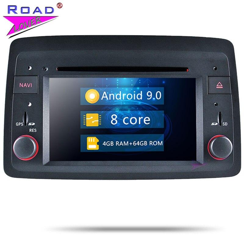 Autoradio Android 9.0 Car DVD Player Audio For Fiat Panda 2004