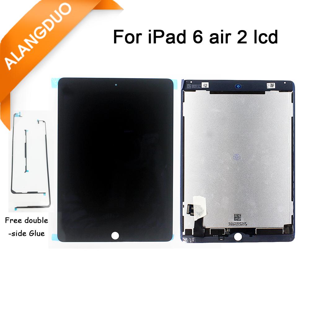 Prix pour Alangduo d'origine pour apple ipad air 2 lcd avec écran tactile écran digitizer pour ipad 6 ipad air 2 a1567 a1566 noir blanc