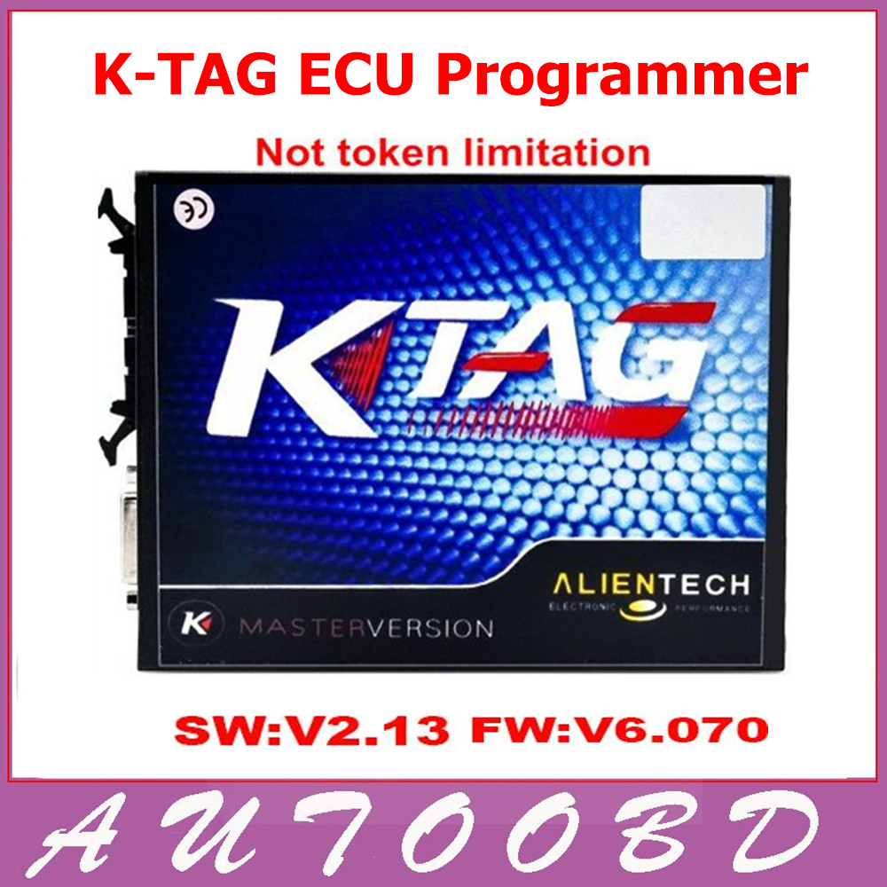 High Quality 2.13 KTAG K TAG ECU Programming Tool Master Version No Token Limited K TAG Hardware V6.070 Via DHL Freeshipping
