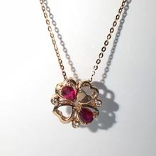 0.359ct+0.025ct 18K Gold Natural Ruby and Pendant Necklace Diamond inlaid 2016 Factory Direct New Arrival Fine Jewelry