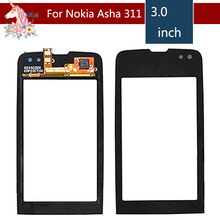 3.0 For Nokia Asha 311 N311 LCD Touch Screen Digitizer Sensor Outer Glass Lens Panel Replacement 3 5 for nokia n8 n 8 lcd touch screen digitizer sensor outer glass lens panel replacement