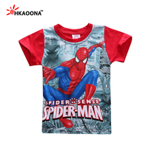 Baby Boys Summer Style T Shirt Tee Cartoon Spider Man Print Kids T-Shirt Superhero Fashion Casual Sporting Children Outerwear