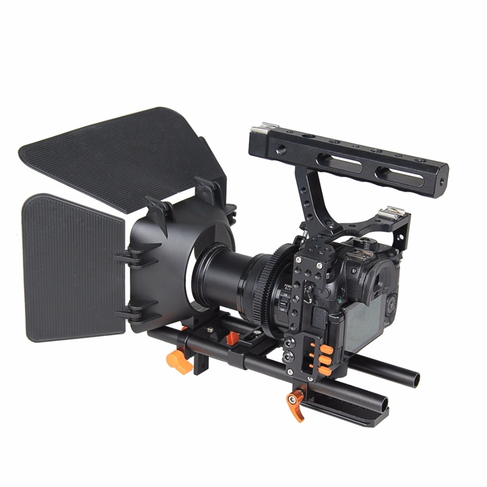 YELANGU YLG1105A A7 Cage Set Include Video Camera Cage Stabilizer / Follow Focus / Matte Box for Camera GH4/ A7S/ A7/ A7R/ A7RII