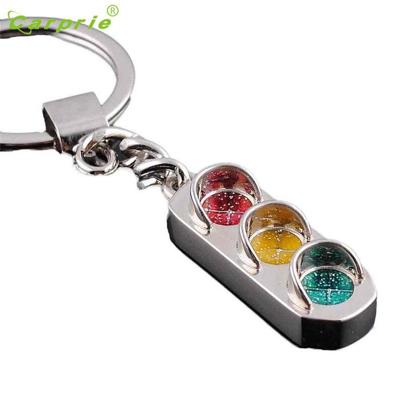 Tiptop Creative Traffic light Key Chain Ring Keyring Metal Keychain Car styling April17