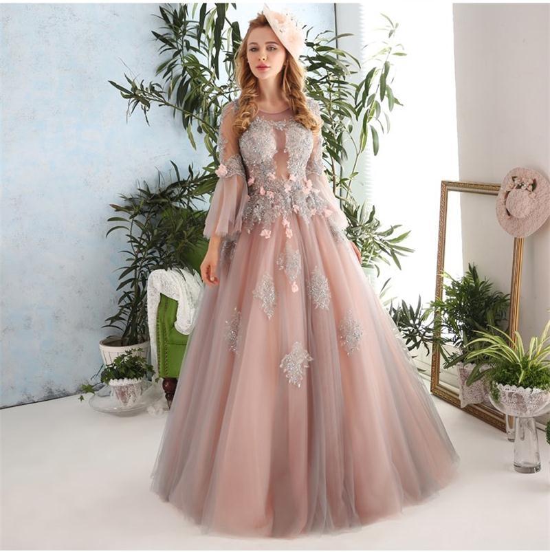 Vintage Elegant Brown Wedding Gown High Quality Long Flare