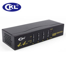 CKL-444H 4 in 4 out HDMI Switch Splitter IR Remote RS232 Support 3D 1080P for PS3 PS4 Xbox 360 PC DV DVD HDTV Metal