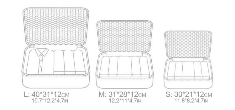 Capacity Zipper Nylon Pieces 6