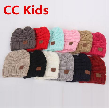 Detail Feedback Questions about 12 Colors Kids Baby Boys Girls Toddler CC  Beanie Hats Children s Winter Warm Chunky Thick Knit CC Hat Skull Beanies  gorros ... e877e0b11dc