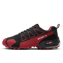 ФОТО  men sneakers mesh breathable air cushion running shoes men shoes sport man outdoors walking zapatos hombre anti-skid off-road