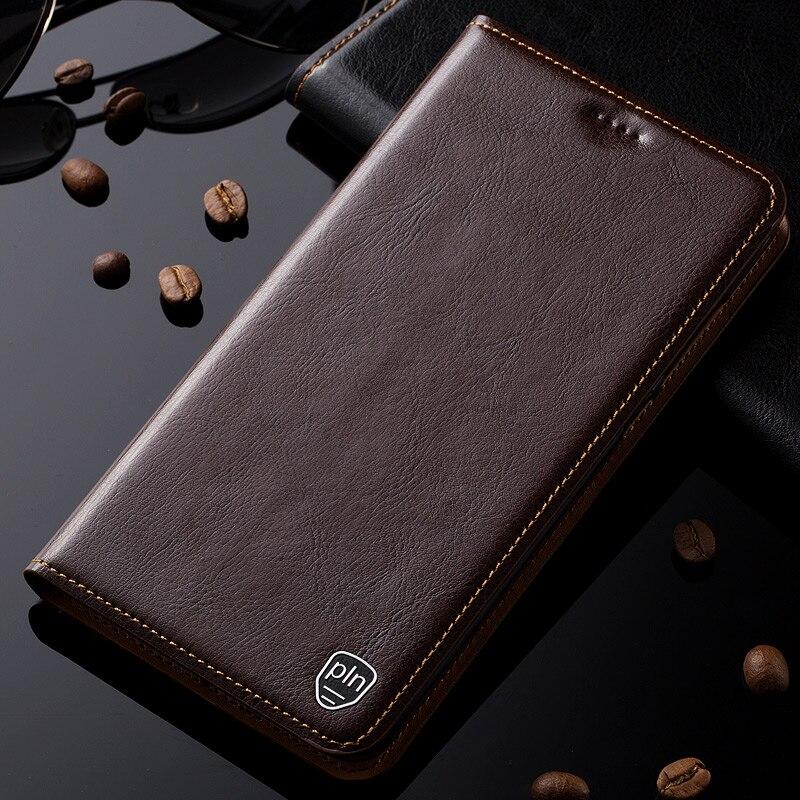 bilder für Für asus zenfone zoom zx551ml case echtes leder abdeckung magnetischer standplatz flip phone case