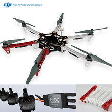 Newest ! Original DJI F550 kit Hexa Copter Flame Wheel with 6 2212 Motors 6 E300 ESCs and 6 Propellers-Red-White