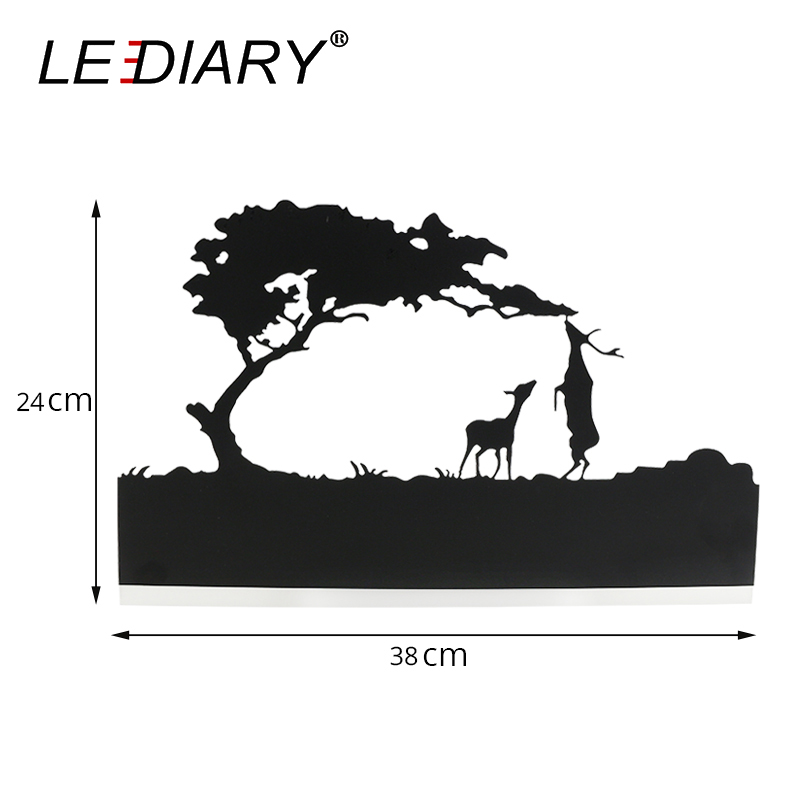 Image 2 - LEDIARY Retro LED Wall Lamp Creative Painting 110 240V Modern Black Sconce Decoration For Bathroom Living Bed Room Animal-in LED Indoor Wall Lamps from Lights & Lighting
