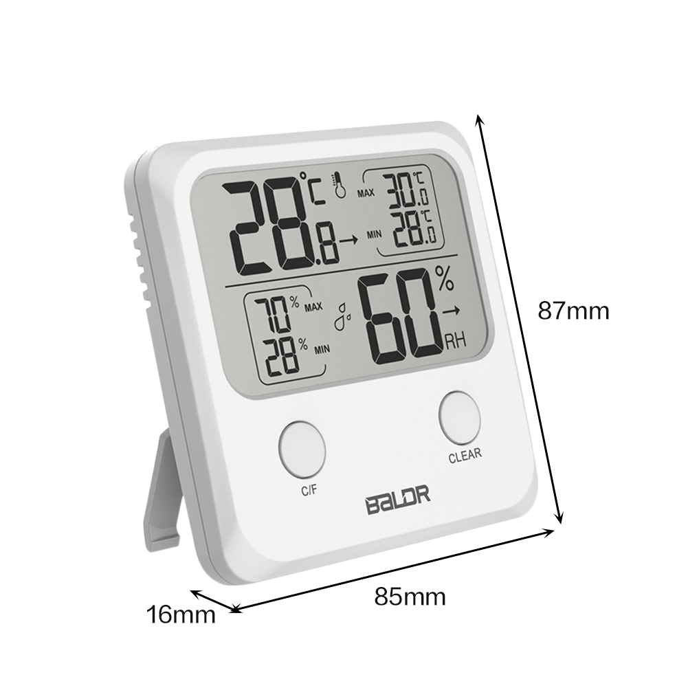 1a7682864 Baldr Digital LCD interior higrotermografo termómetro electrónico ...
