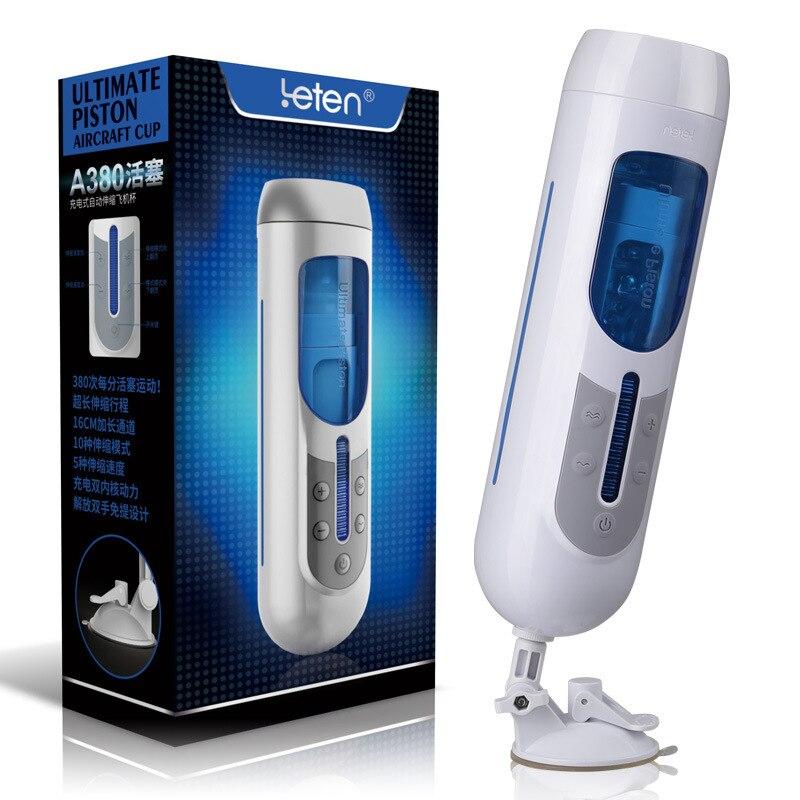 LEten A380 поршень Мужской Электрический телескопическая автоматический мастурбатор Hands Free USB Перезаряжаемые секс-игрушки для взрослых для муж...