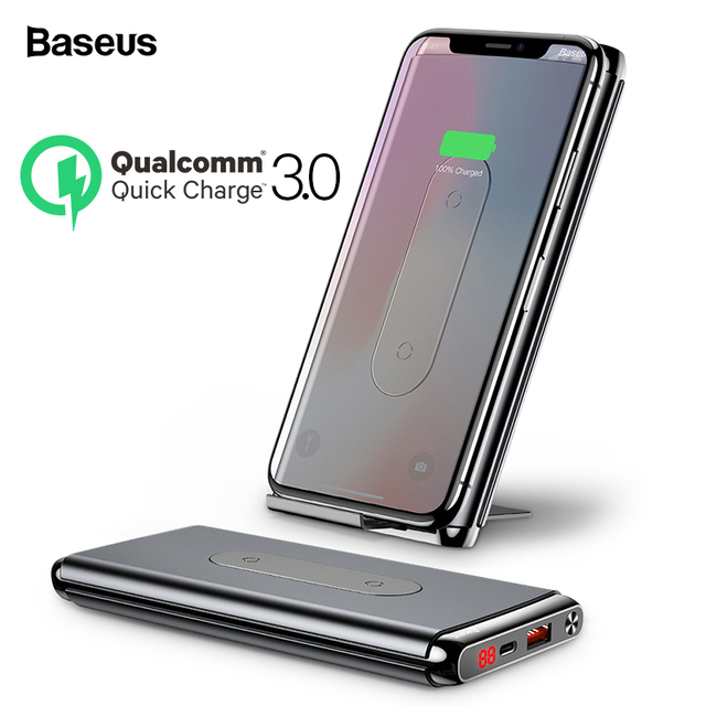 Baseus 10000mah Quick Charge 3.0 Power Bank Qi Wireless Charger Poverbank For iPhone Xiaomi mi USB C PD Fast Charging Powerbank