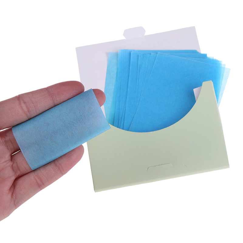 50pcs/box  Absorb Blotting Facial Cleanser Oily Skin Oil Control Oil Absorbing Paper Makeup Tissue Papers Cleansing Face Paper