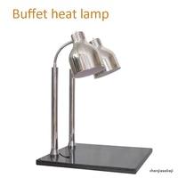 Двойная головка изолированный разъем буфет термоизоляционный для продуктов настольная лампа буфет тепловая лампа инфракрасная лампа еда ...