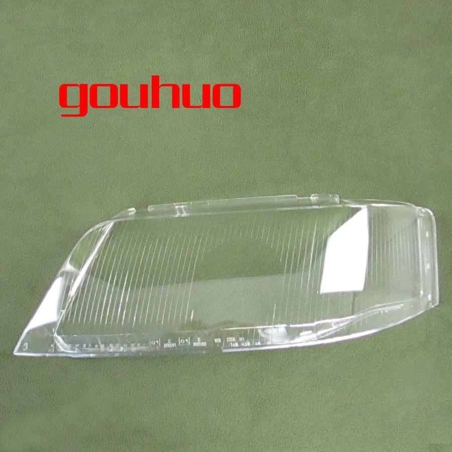 Для Audi A6 C5 99-02 фары лампы Крышка объектива стеклянная покрытая лампа фар прозрачный абажур 2 шт