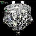 Modern Lustre K9 Crystal Diningroom Led Ceiling Light Plated Chrome E14 Foyer Ceiling Lamp Creative Crystal Diamond Ceiling Lamp