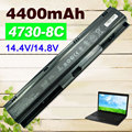 Bateria de 8 células para hp probook 4730 s 4740 s 633734-141 633734-151 633734-421 633807-001 hstnn-ib2s hstnn-lb2s hstnn-i98c-7 pr08