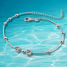 Heart Pendant in Sterling Silver Anklets sterling silver jewelry for women