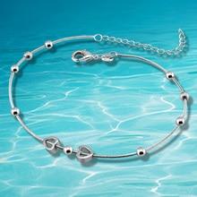 В форме сердца кулон из серебра ножные браслеты, Серебряные ювелирные изделия для женщин