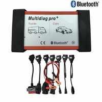 A + Qualidade Multidiag Pro + 2015. r3 Scanner de Bluetooth Para Carros E Caminhões obd OBD2 VD 8 Cabos Carro TCS cdp pro ferramenta de diagnóstico + completo