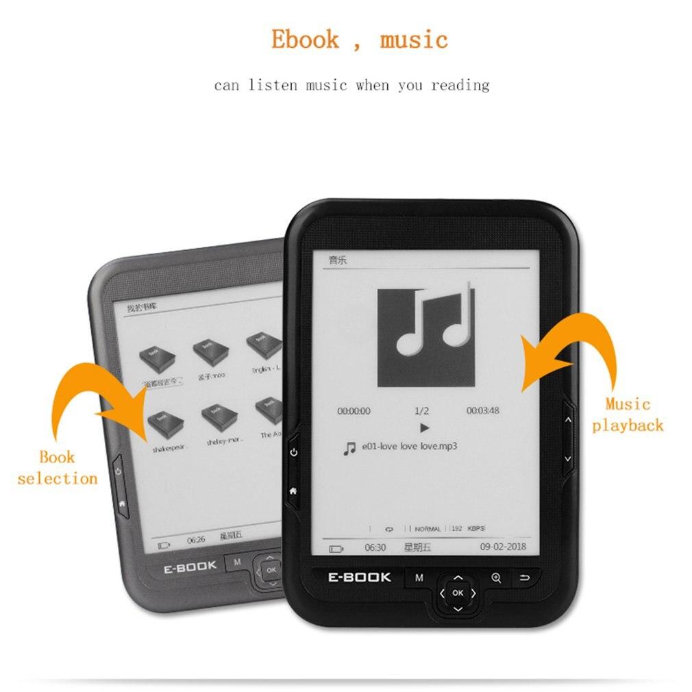 BK6006 HD 6 pouces 4G/8G/16G lecteur d'ebook Ereader lecteur de livre Comfortlight Pro - 3