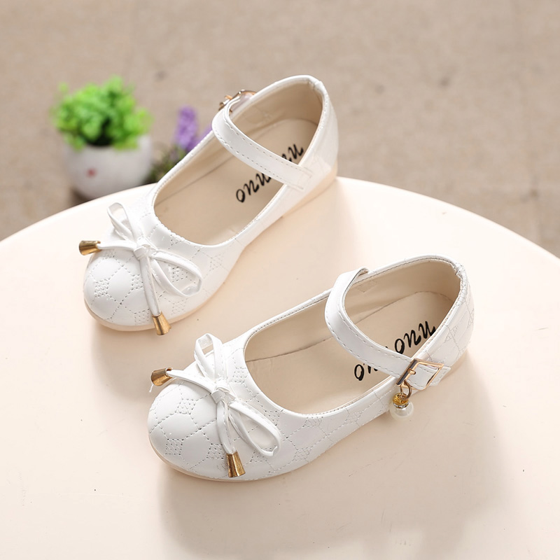 QGXSSHI 2017 spring children's leather shoes girls Princess patent leather single shoes student dance shoes For Baby Girls 21-30