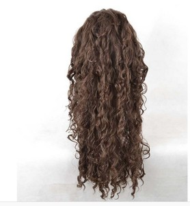 Image 5 - Movie Film Character Bellatrix Lestrange Cosplay Wig Long Brown Curly Heat Resistant Synthetic Hair Costume Wigs + Wig Cap