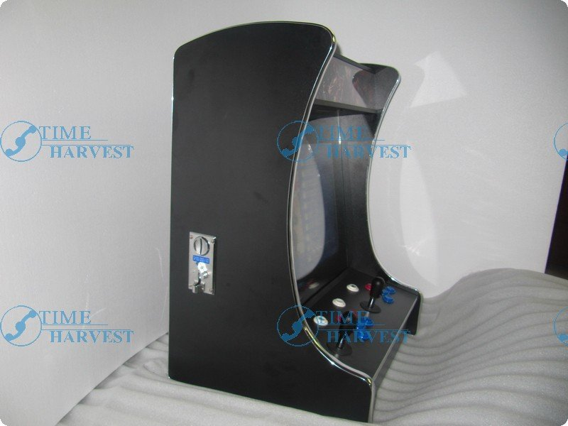 19 inch LCD Desk Arcade Game Machine with 1057 in 1 game board/2 player/chrome edge/Stereo Speakers/Amplifier/Horizontal display