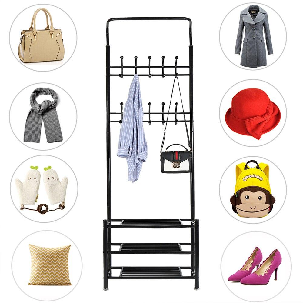 Shoe Rack Storage Cabinet Shoe Organizer Shelf For Shoes Home Furniture Multifunction Coat Rack Bathroom Rack For Home HWC