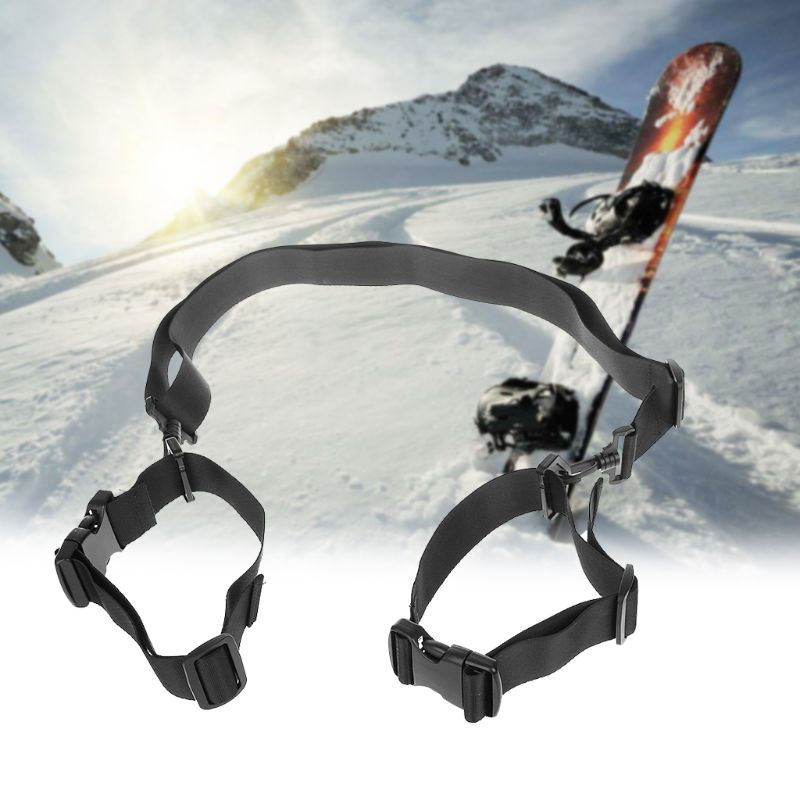 Detachable-Holder Snow-Board Country Nordic Skiing Nylon Ski-Accessories Alpine Double-Cross