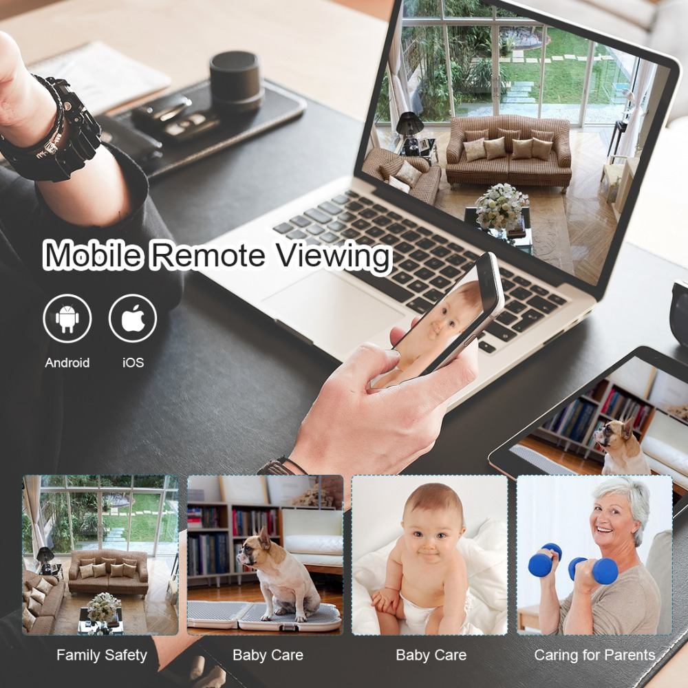 Techage iCsee 1080P 720P SD Card Record Wireless Camera Wifi Audio Sound  Video Outdoor Night Vision Security CCTV Surveillance