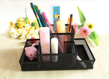 Metal Net Multifunctional combined Penholder Desk Storage Box Pencil Holders Stand Stationary Office Supplies Study