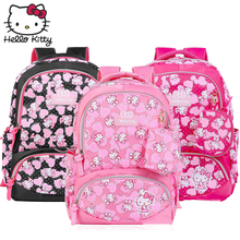 Kawaii Cartoon Pink Hello Kitty Backpacks Cute hellokitty Fashion Girls Women Single Shoulder Multifunctional Kid Plush Backpack подвеска hello kitty hnl1704chc hellokitty