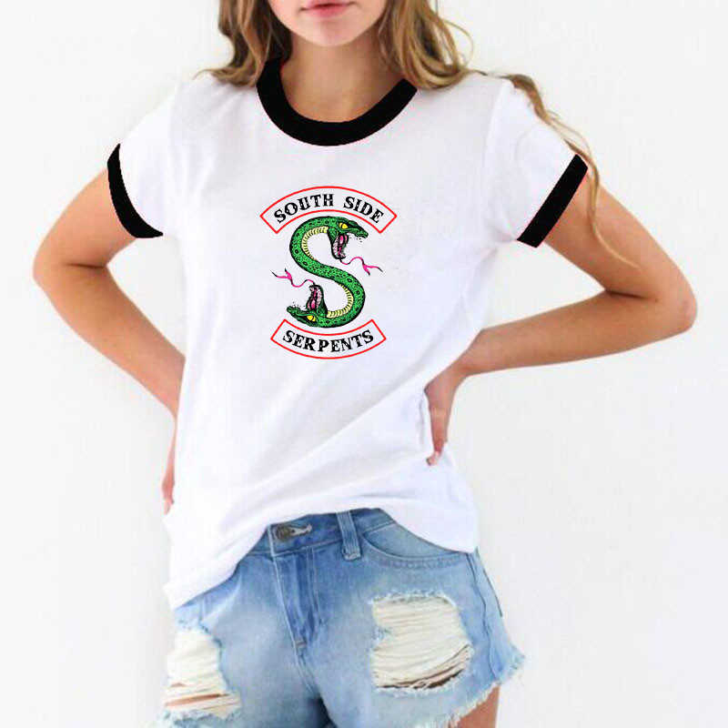 2019 Riverdale T shirt Women Summer Tops SouthSide Serpents Jughead Female TShirt Clothing Riverdale South Side t-shirt ulzzang