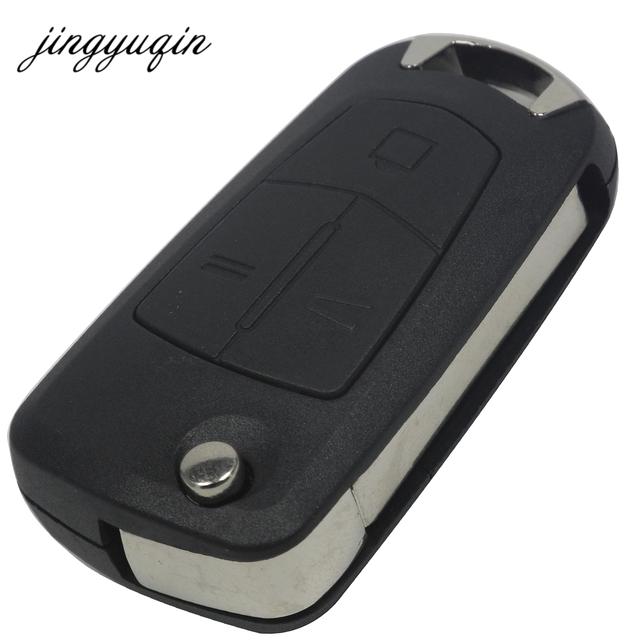 jingyuqin 2/3 Butoons Uncut Folding Flip Remote Key Case Shell Fob For Vauxhall / Opel / Astra H / Corsa D / Vectra C / Zafira