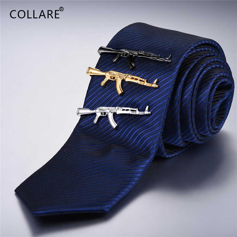 Collare Tie Clip Voor Mannen Tie Pin Goud/Zwart/Zilver Kleur Groothandel Luxe Bruidsjonkers Geschenken Mannen Sieraden Merk Tie Bar TC140