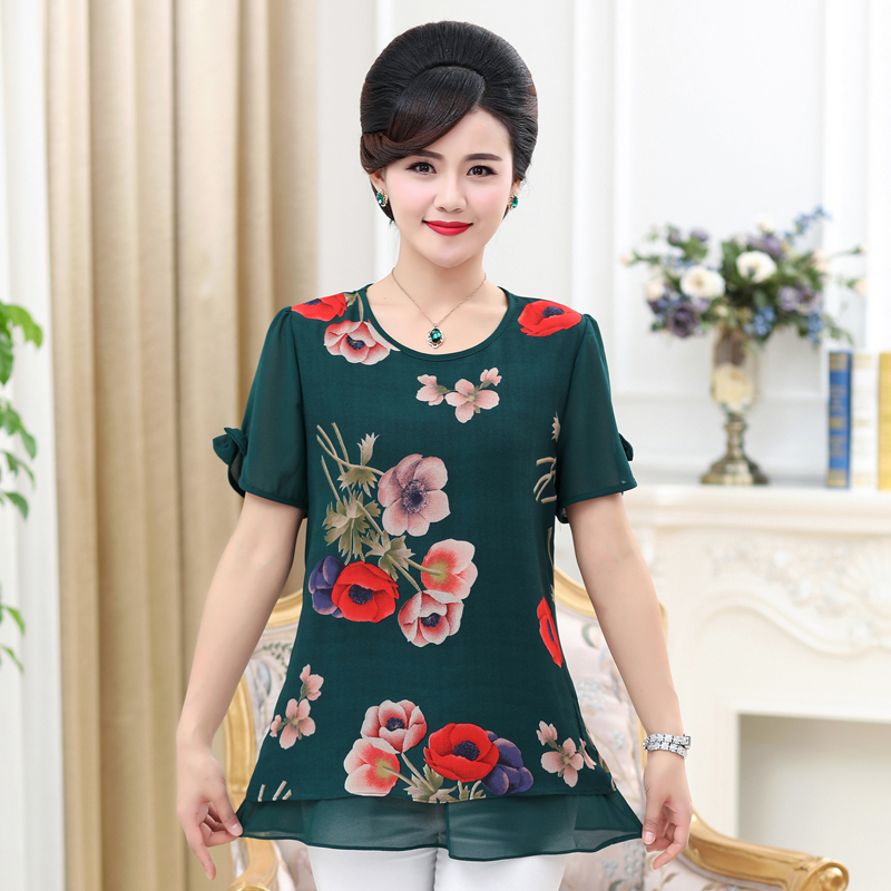 89085a716b359 Detail Feedback Questions about NIFULLAN Summer Bow Short Sleeve Women  Chiffon Shirt 2018 New Fashion Mother 5XL Plus Size O neck Blouse Top  Chemise Femme ...