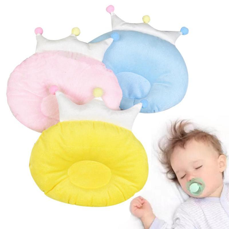 Fashion baby pillow candy colour infant kids sleep positioner Crown Shaping pillow to prevent flat head Living room decorate D15