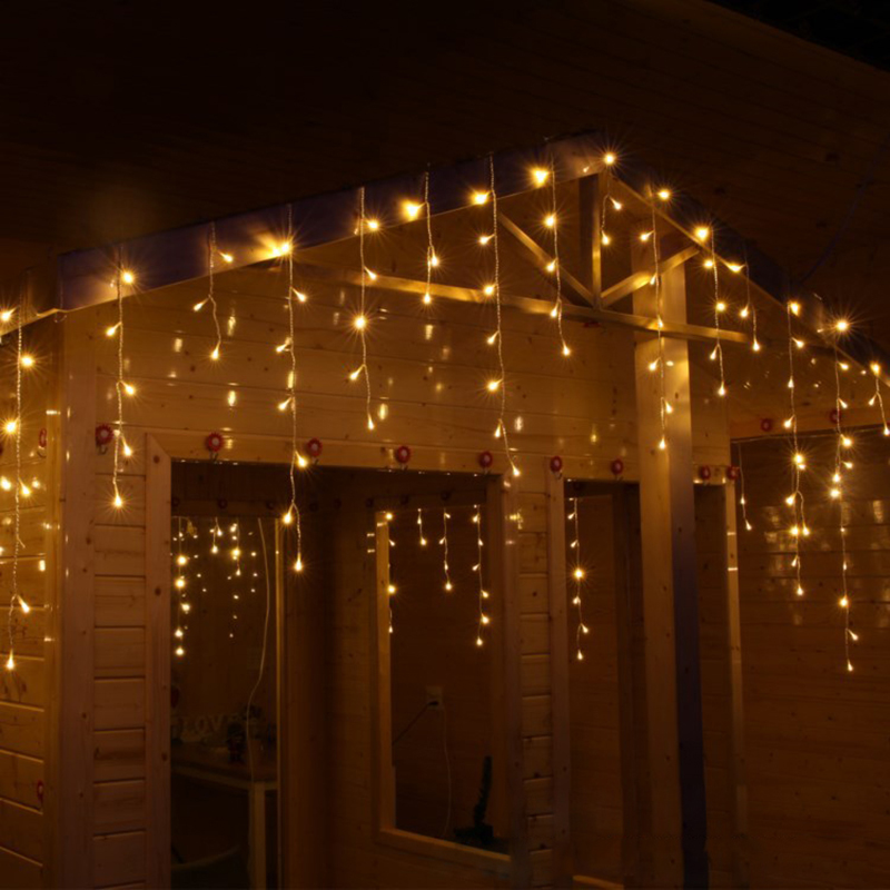 10M 320 Pærer Utendørs LED Curtain Fairy Lights Garland Jul Gerlyanda Holiday String Lys Dekorasjon For Bryllupsfest
