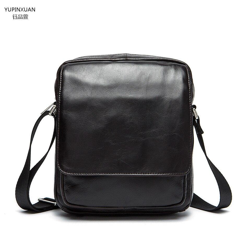 YUPINXUAN Durable Briefcase Men Cow Leather Messenger Bag Vintage Retro Shoulder Bag Genuine Leather Crossbody Bags Real Leather