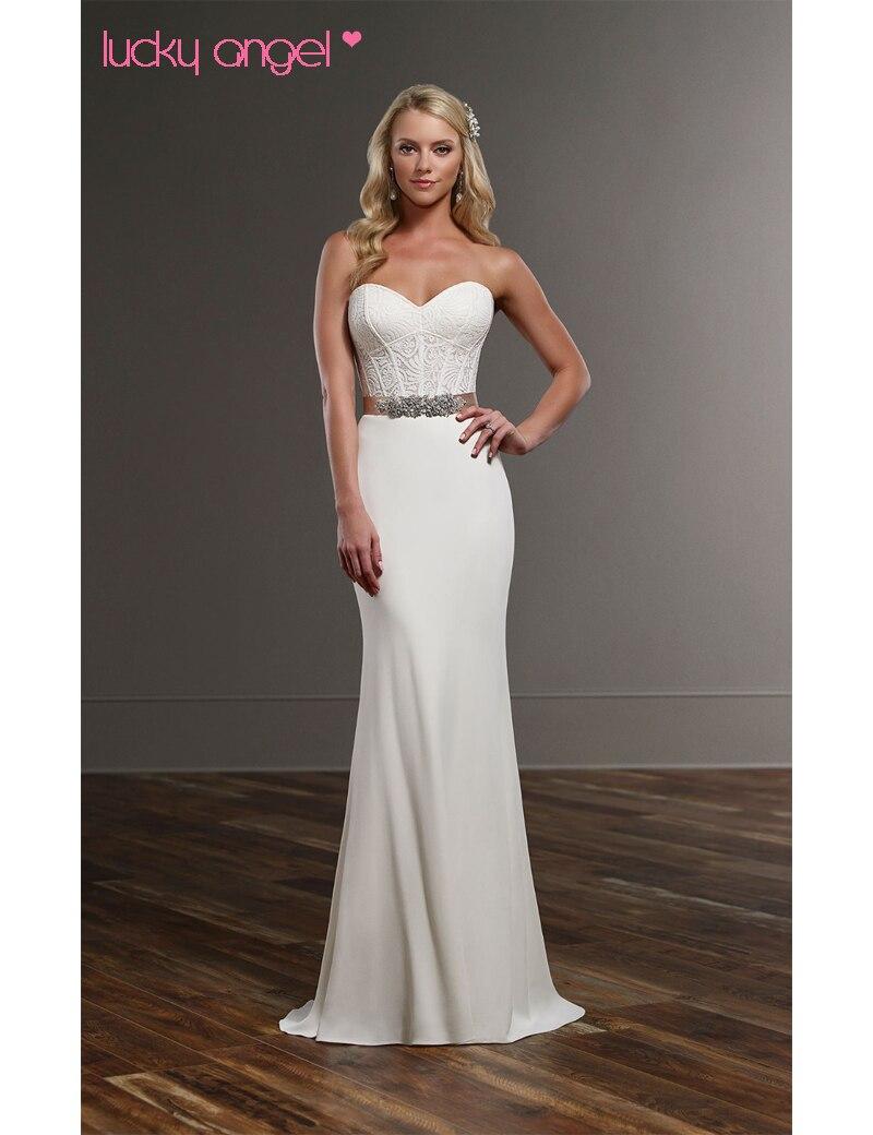 Vestido De Noiva Lace Modern Wedding Gown Separates Sleek and modern ...