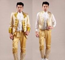 Jacket vest pants Suit male costume men s suit wedding dress european Prince court dress