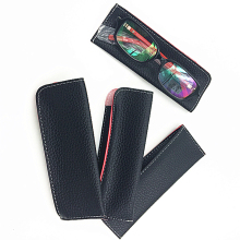 Women Men Fashion Eyeglasses Case PU Leather Pouch For Reading Glasses Portable 5pcs/Lot Free Shipping
