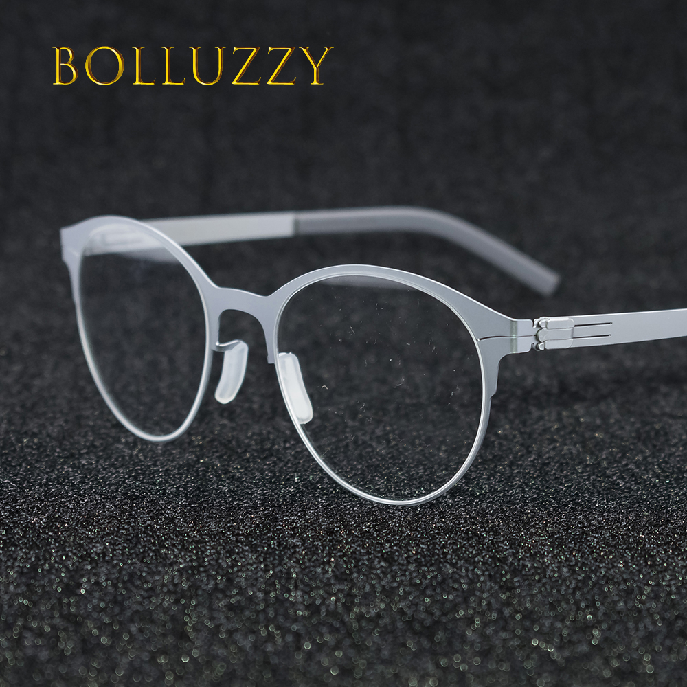 Men Women's Cat Eye Big Round Rim Eyeglasses Frame Eyewear No Screw No Welding Golden Reading Degree Eyeglasses For Men Women
